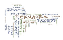 Teamwork word cloud Royalty Free Stock Photography