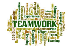 Teamwork. Word cloud on white background Stock Images