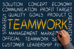 Teamwork Word Cloud Stock Photo