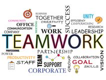 Teamwork word background Stock Photography