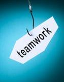 Teamwork word on hook Royalty Free Stock Photo