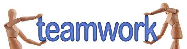 Teamwork word manikins Royalty Free Stock Photo