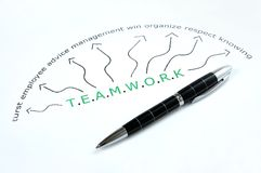 Teamwork word Stock Photo