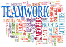 Teamwork word tags Royalty Free Stock Image
