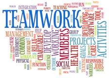 Teamwork word tags Royalty Free Stock Image