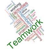 Teamwork wordcloud. Illustration of teamwork wordcloud on white background Stock Photos