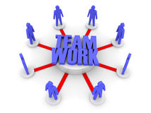 Teamwork. Working towards a common target. Royalty Free Stock Photo