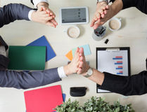 Teamwork in the workplace Royalty Free Stock Photos