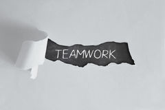 TEAMWORK written with chalk Stock Photo