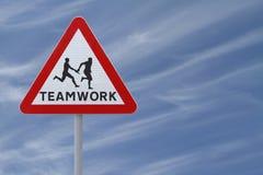 Teamwork-Zeichen Lizenzfreie Stockfotos
