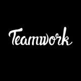 Teamwork-Zusammenarbeit zwischen Unternehmen-Management Infographic stock abbildung