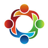 Teamwork 4 logo Royalty Free Stock Photography