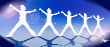 Teamworkaffär eller underhållningsymbol arkivfoto