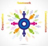Teamworkaffärsidé stock illustrationer