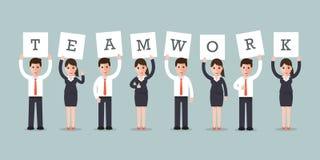 Teamworkaffärsmän och affärskvinnor Royaltyfri Bild