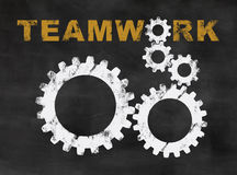 Teamworkapelsin stock illustrationer