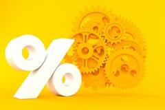 Teamworkbakgrund med procentsymbol vektor illustrationer