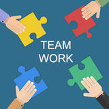 Teamworkdesign över vit bakgrund, vektorillustration Vektor Illustrationer