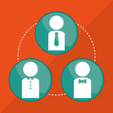 Teamworkdesign arkivbild