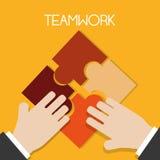 Teamworkdesign arkivbilder