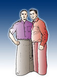Teamworker. Illustration of two guys as teamworkers royalty free illustration