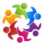 Teamworkgruppplanläggning och skapasymbol stock illustrationer