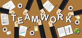 Teamworkillustration Schacket figurerar bishops Plana designillustrationbegrepp för teamwork, lag, solidaritet, möte, arbete, bus Fotografering för Bildbyråer