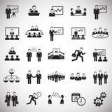 Teamworking set on white background. Icons stock illustration