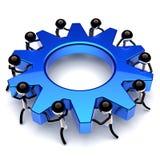 Teamworkkugghjulhjul, kugghjulaffärsprocess partnerskap vektor illustrationer