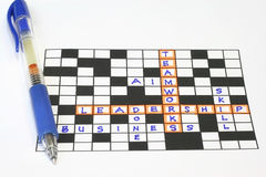 Teamworks leadership puzzle Royalty Free Stock Photo