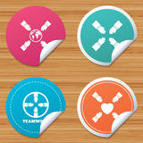 Teamworksymboler Symboler för portionhänder Arkivbild