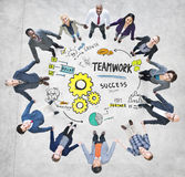 TeamworkTeam Collaboration Business People Unity begrepp Royaltyfri Bild