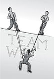 teamworkvektor stock illustrationer