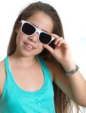 Teanager girl with sunglasses Stock Photography