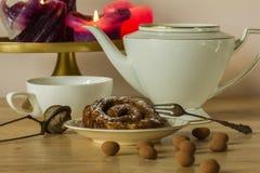 Teaparty mit zeeuwse Bolus Lizenzfreie Stockbilder
