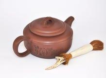 Teapot αργίλου για την τελετή τσαγιού Στοκ εικόνες με δικαίωμα ελεύθερης χρήσης