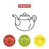 Teapot εικονίδιο Στοκ εικόνα με δικαίωμα ελεύθερης χρήσης