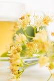 Teapot και το φλυτζάνι με το τσάι Στοκ εικόνα με δικαίωμα ελεύθερης χρήσης