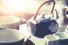 Teapot και το ύφος του τρύού στοκ φωτογραφία