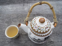 Teapot και φλυτζάνα τσαγιού Στοκ Εικόνα