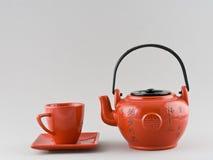 Teapot και φλυτζάνι Στοκ εικόνες με δικαίωμα ελεύθερης χρήσης