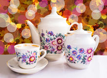 Teapot καφέ Στοκ Φωτογραφίες