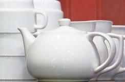 teapot λευκό Στοκ Εικόνα