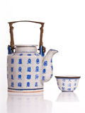 teapot πορσελάνης Στοκ Εικόνες