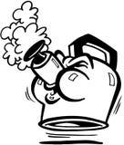 Teapot σφυρίζοντας κινούμενα σχέδια διανυσματικό Clipart Στοκ φωτογραφίες με δικαίωμα ελεύθερης χρήσης