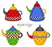 Teapot σύνολο Στοκ εικόνα με δικαίωμα ελεύθερης χρήσης