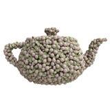 Teapot του ακτινίδιου Στοκ Εικόνες