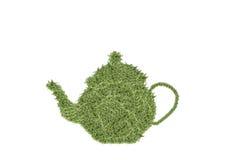 Teapot του arugula που απομονώνεται στο άσπρο υπόβαθρο Στοκ Εικόνες