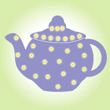 Teapot τσαγιού η κατσαρόλα δοχείων ποτών απομόνωσε της Κίνας φλυτζανιών πορσελάνης προγευμάτων την άσπρη παλαιά καυτή κάρτα καφέδ απεικόνιση αποθεμάτων