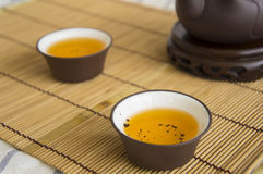 teapot τσαγιού κινεζική έννοια cha Oolong αργίλου αγγειοπλαστικής φλυτζανιών Στοκ Φωτογραφίες